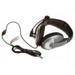 Наушники с микрофоном Hama AH-100 черный/серебристый 2м мониторы (00053994)