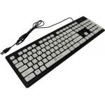 Клавиатура Оклик 580M черный USB slim