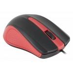 Мышь Оклик 225M черный/красный оптическая (1200dpi) USB (2but)
