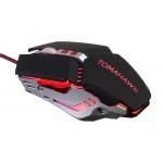 Мышь Оклик 999G TOMAHAWK черный оптическая (3200dpi) USB (8but)