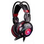 Наушники с микрофоном A4Tech Bloody G300 черный/красный 1.8м мониторные оголовье (G300 BLACK+RED)